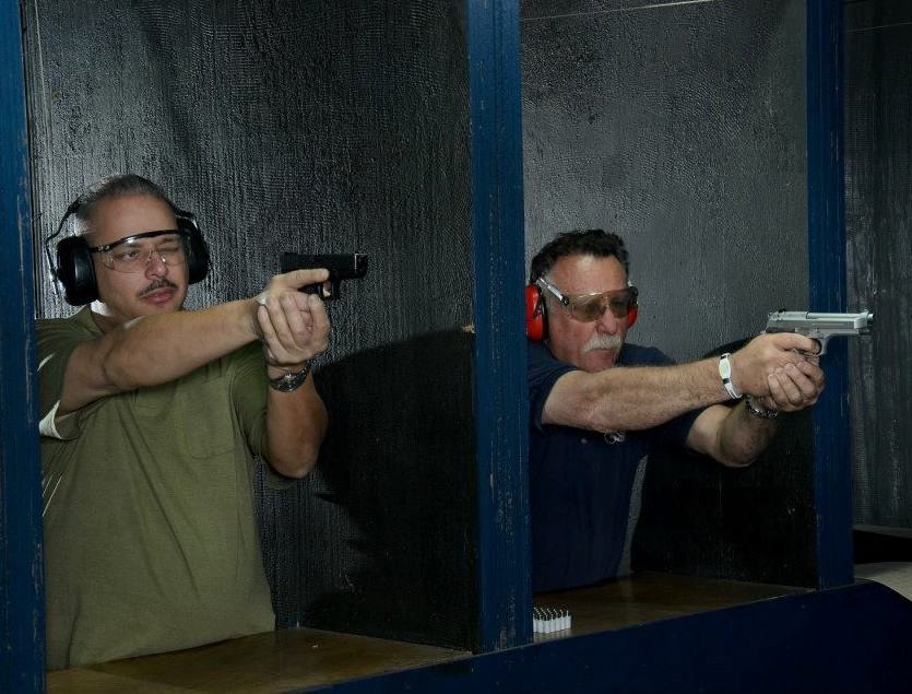 Men At Gun Range
